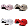 Розовая кепка бейсболка Polo Ralph Lauren (кож. ремешок) , фото 5