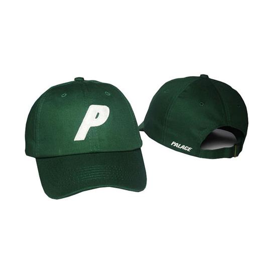 Зеленая кепка бейсболка Palace skateboards
