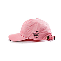 Розовая кепка бейсболка Anti social club ASSC