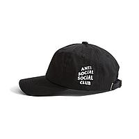 Черная кепка бейсболка Anti social club ASSC