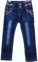 Брюки джинсовые на флисе для девочки р. 98-128   арт. 6076