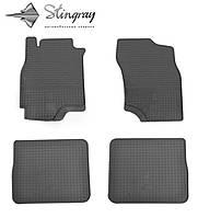 Резиновые автоковрики Mitsubishi Lancer IX 2004-2008 Комплект из 4-х ковриков Черный в салон