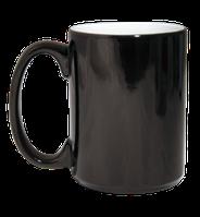 Кружка магическая хамелеон  для сублимациии, чёрная, 310мл.