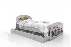 """Підліткове ліжко для хлопчика """"Formula 1"""" с ящиком ТМ Вальтер-С Сірий K3Y-10.09.55"""