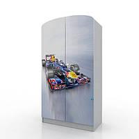 """Удобный и вместительный шкаф """"Formula 1"""" с ящиком (Размер: 183х100х47 см) ТМ Вальтер-С Серый HY-10.10.55"""