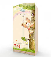 """Удобный и вместительный шкаф """"Мишка с букетом"""" без ящика (Размер: 183х80х47 см) ТМ Вальтер-С Венге светлый H-1.08.37"""