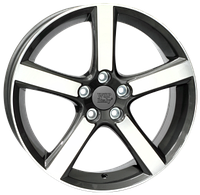 WSP-Italy W1257 Nord anthracite polished (R18 W7.5 PCD5x108 ET52.5 DIA63.4)
