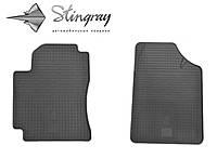 Резиновые автоковрики Geely CK-2  2008- Комплект из 2-х ковриков Черный в салон