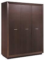 Шкаф Клео (SM) трехдверный шкаф в цвете темный венге, элемент модульной системы Клео 1665*2120*620