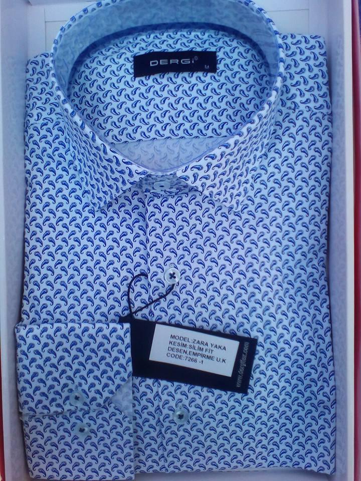 Рубашка DERGI норма приталенная с длинным рукавом код 7266-1