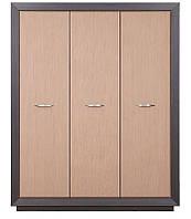 Шкаф Клео (SM) трехдверный шкаф в цвете макасар, светлый венге, элемент модульной системы Клео 1665*2120*620