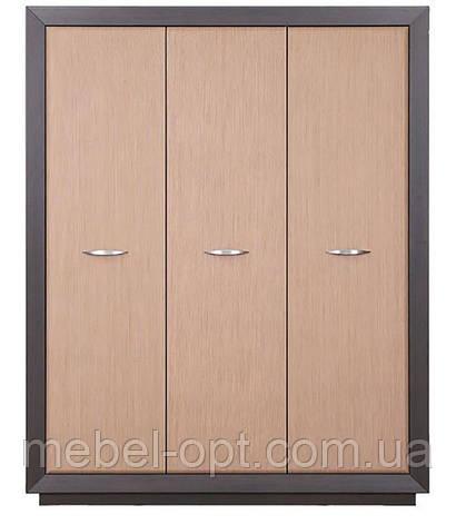Шкаф Клео (SM) трехдверный шкаф в цвете макасар, светлый венге, элемент модульной системы Клео 1665*2120*620, фото 2