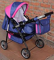 Коляска для куклы Adbor Ring mini фиолетово-розовая