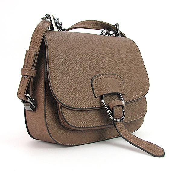 Сумка - клатч малая женская коричневая кожзам 9108