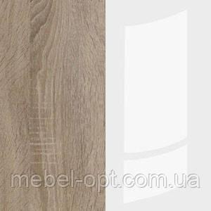 Шкаф Клео (SM) трехдверный шкаф в дуб сонома - белый глянец, элемент модульной системы Клео 1665*2120*620, фото 2