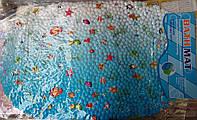 Силиконовый коврик в ванную с рыбками