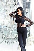 Женский комбинезон строгие брюки+верх рубашка гепюр.