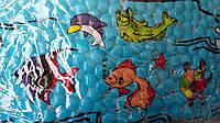 Антискользящий коврик в ванную для детей, Рыбы