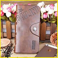 Кожаное портмоне бумажник Bailini Long + Подарок!