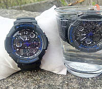 Часы мужские CASIO S-SHOCK black-blue