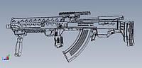 Проект Bullpup BlackStorm BS-4. Тюнинг автоматов Калашникова АК 47, АКМ, АКМС МФ, АК-74, АКС-74, Сайга, Вепрь