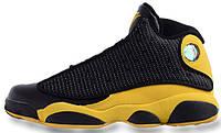 Мужские кроссовки Air Jordan 13 Retro Black/yellow