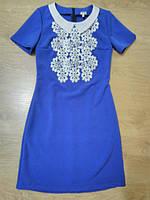 Платье приталенное с макраме