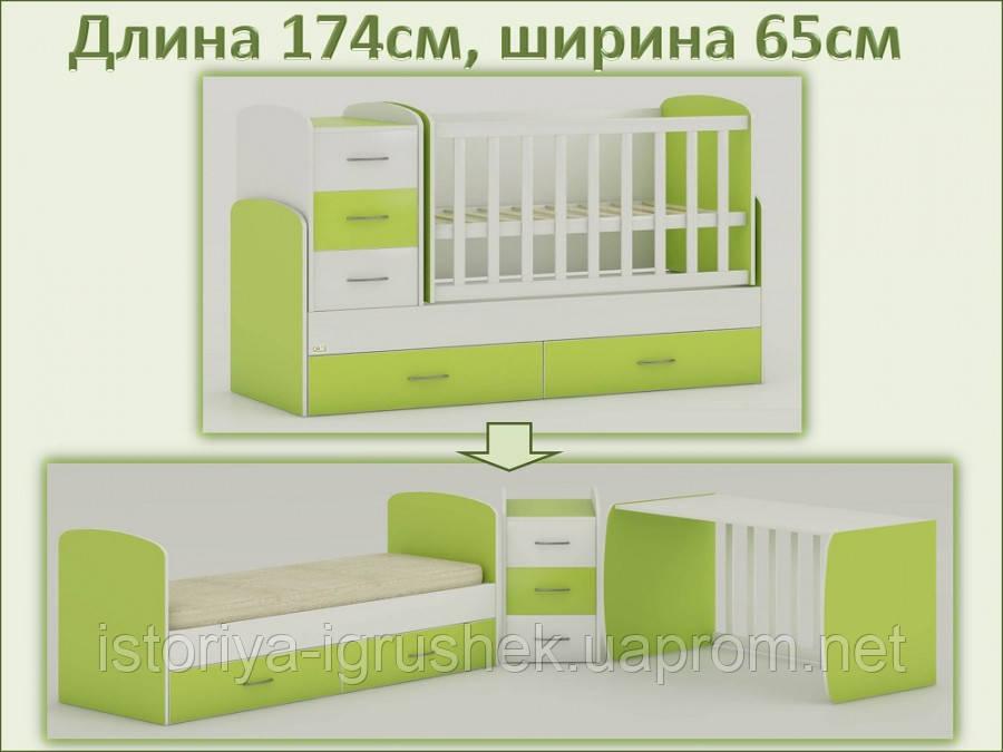 Трансформируемая детская кровать Oris-mebel Maya (цвета в ассортименте