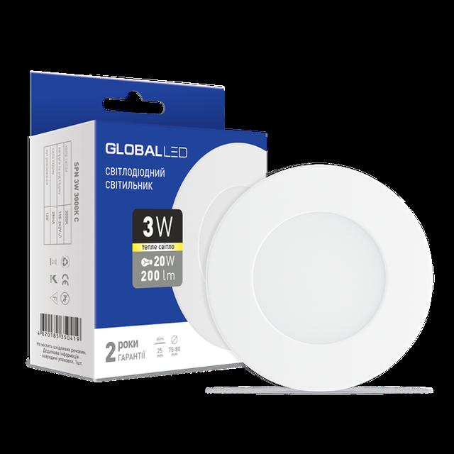 Встраиваемый светильник GLOBAL LED 3W 3000K