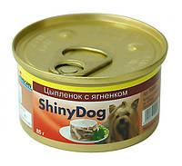 Консервы Gimpet Shiny Dog Chicken & Lamb для собак с курицей и ягненком, 85 г