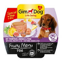 Паштет GimDog LD Fruity Menu Pate with Tuna, Pineapple & Fig с тунцом и инжиром, 100 г