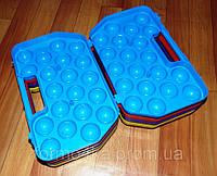 Лоток для яиц пластиковый на 2 десятка, фото 1