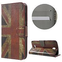 Чехол книжка TPU Wallet Printing для ZTE Blade L5 Plus Vintage UK Flag