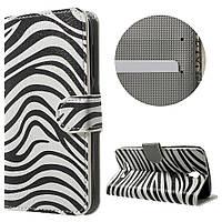 Чехол книжка TPU Wallet Printing для ZTE Blade L5 Plus Zebra Pattern