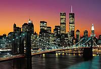 Фотообои бумажные на стену 366х254 см 8 листов: город Нью-Йорк Манхэттен