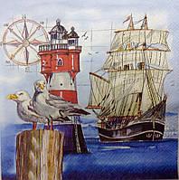 Салфетка для декупажа морская (33*33 см.)