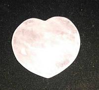 Сердце из камня розовый кварц