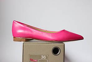 Шикарные кожаные туфли-балетки Bata, Оригинал