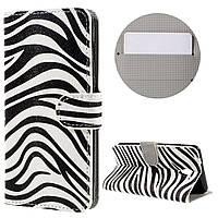 Чехол книжка TPU Wallet Printing для ZTE Blade A510 Zebra Pattern