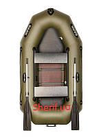 Двухместная гребная лодка Bark B-230D co сдвижными сидениями