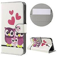 Чехол книжка TPU Wallet Printing для ZTE Blade A510 Owl Family