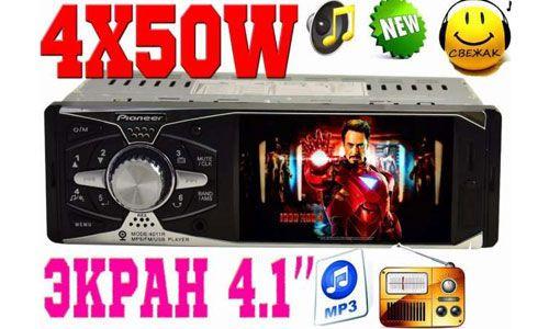 "Автомагнитола Pioneer 4011 ISO с экраном 4.1"""