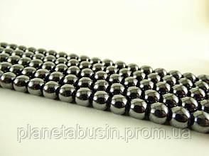 10 мм Гематит, Натуральный камень, На нитях, бусины 10 мм, Отверстие 1,5 мм, количество: 38-40 шт/нить, фото 3