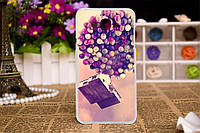 Силиконовый чехол для Samsung Galaxy J3 J300 с рисунком дом на шарах