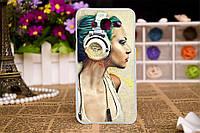 Силиконовый чехол для Samsung Galaxy J3 J300 с рисунком девушка в наушниках