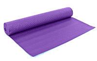 Коврик для фитнеса PVC 4мм с чехлом YG-2774-2 Yoga mat (р-р 1,73м*0,61м*4мм, PL, синий, фиолетовый)