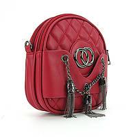 Красная вертикальная сумка маленькая на цепочке