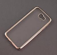 Чехол TPU Remax для Samsung Galaxy J5 Prime G570f прозрачный серебристый хром