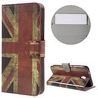Чехол книжка TPU Wallet Printing для ZTE Blade A510 Retro UK Flag