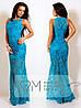 Платье нарядное длинное набивной гипюр Размеры: S,M,L